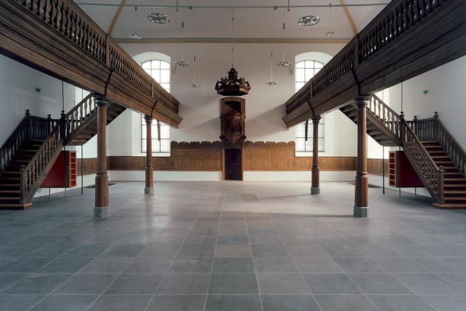 Kirchenschiff, Blick vom Haupteingang